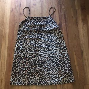 Zara Leopard slip dress